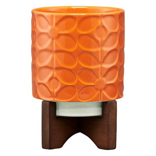 Sixties Stem Orange Ceramic Plant Pot
