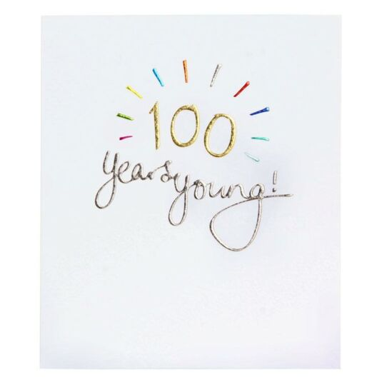 Paperlink Mimosa 100th Birthday Card