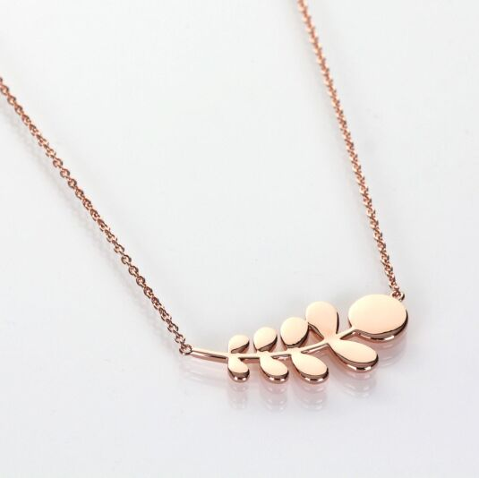 Rose Gold-Plated Leaf Necklace