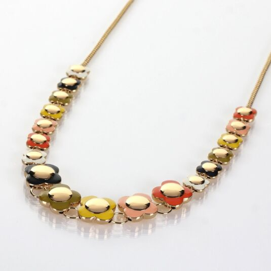 Flower Spot Gold-Plated Necklace