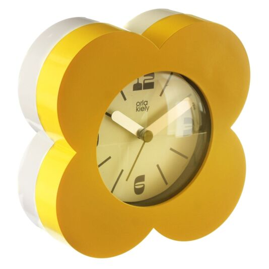 Yellow Flower Spot Alarm Clock
