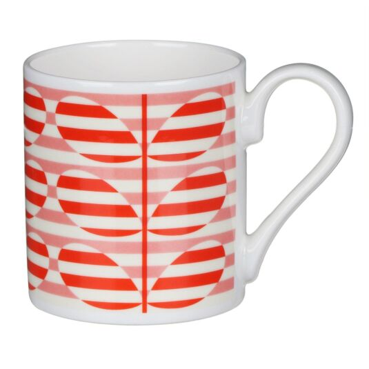 Orange Stripe Stem Mug