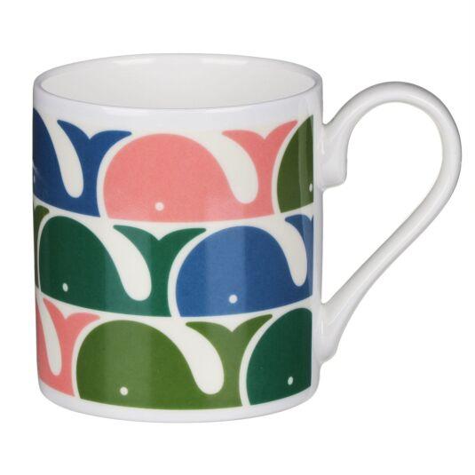 Pink Whale Print Mug