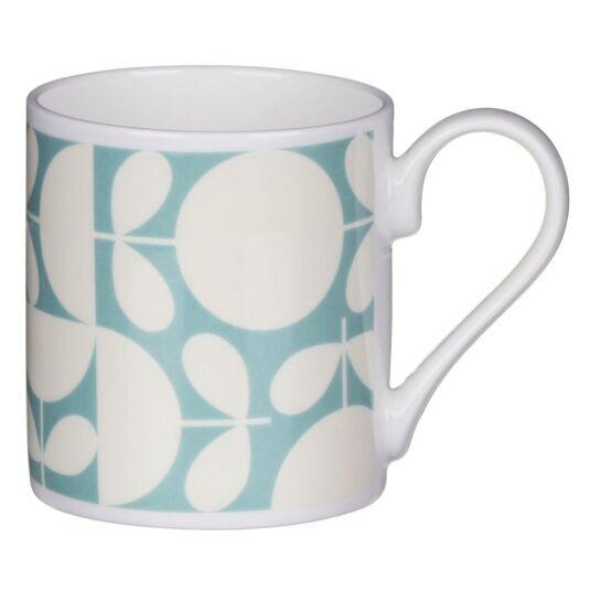 Aqua Patchwork Print Mug