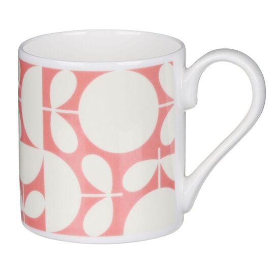 Pink Patchwork Print Mug