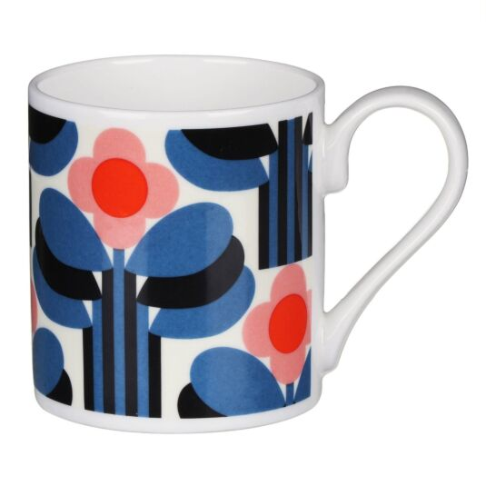 Orange Art Deco Print Mug