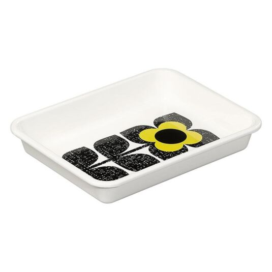 Textured Square Flower Yellow Roaster