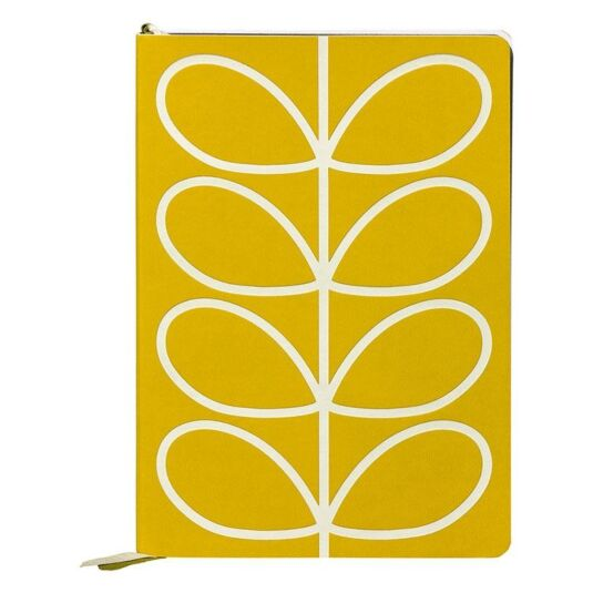 Linear Stem A5 Classic Yellow Notebook