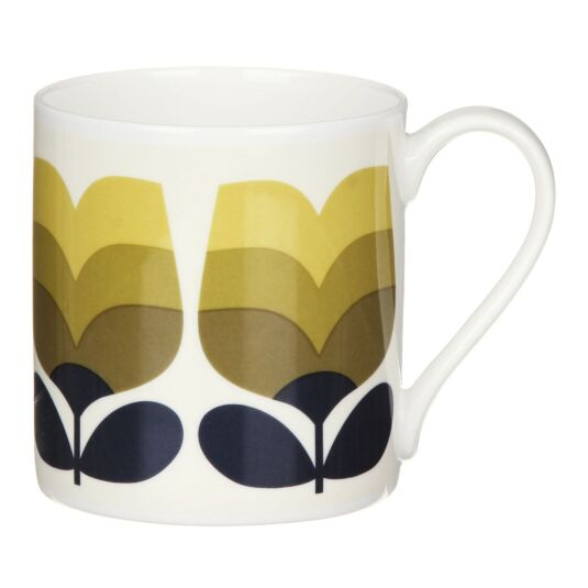 Olive Striped Tulip Large Mug