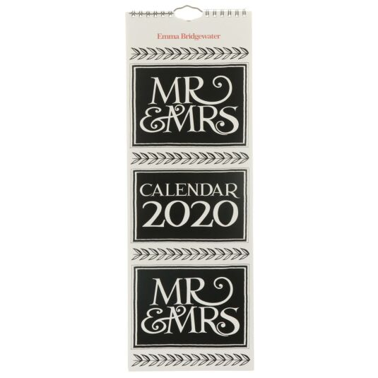 Mr & Mrs 2020 Slim Calendar