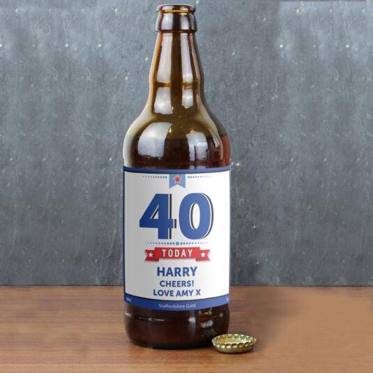 Personalised Birthday Star Beer