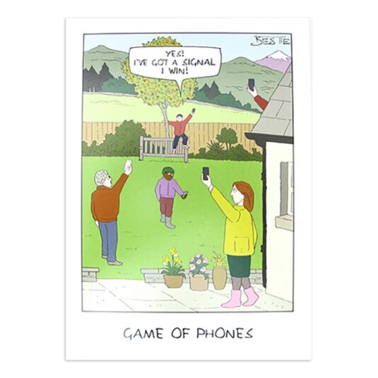 Bestie Game of Phones Card