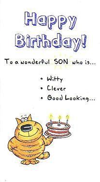 Paperlink The Funny Farm Happy Birthday Son Card