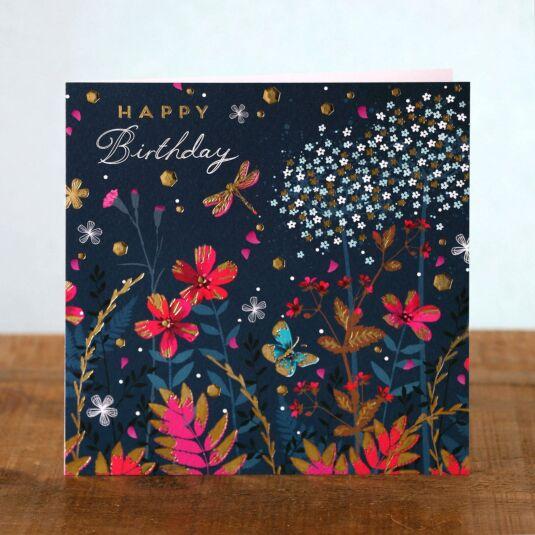 Emerald Meadow Birthday Card