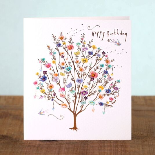 Lemon Sorbet Tree Birthday Card