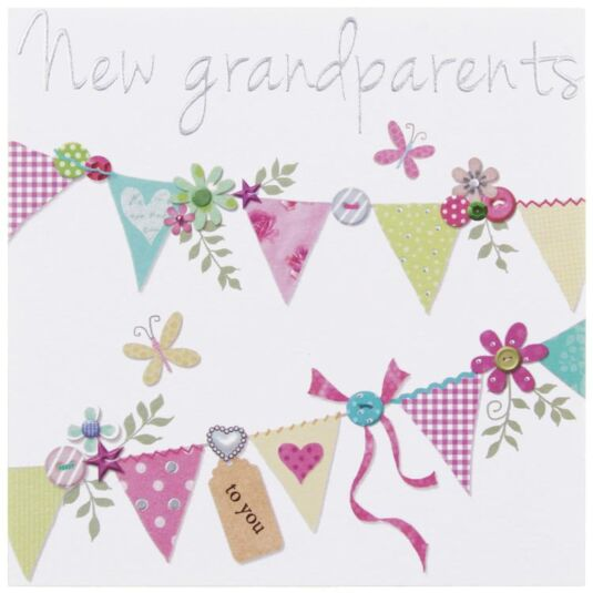 Made With Love New Grandparents Card