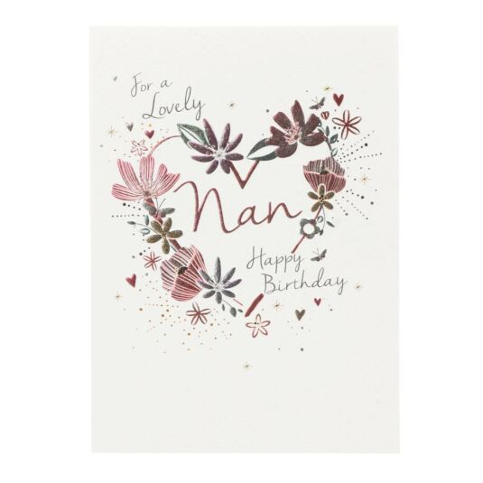 'For a Lovely Nan' Birthday Card