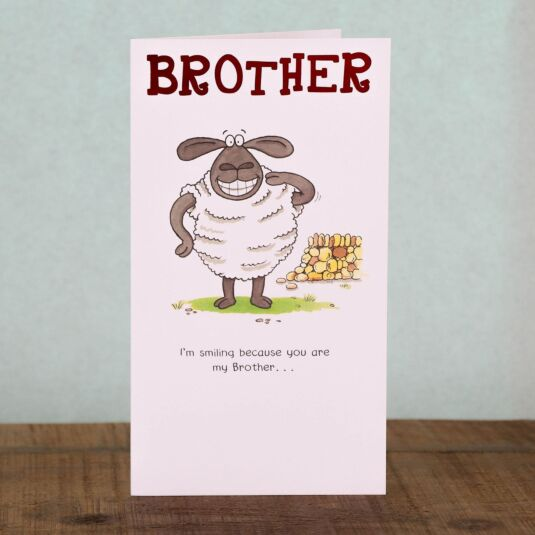 Funny Farm Brother Birthday Card