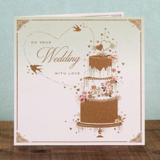 Gold Dust Wedding Card