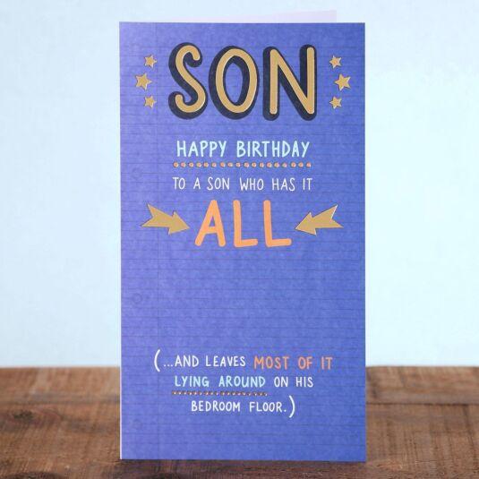 Just Saying Son Birthday Card