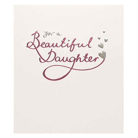 Mimosa Beautiful Daughter Birthday Card