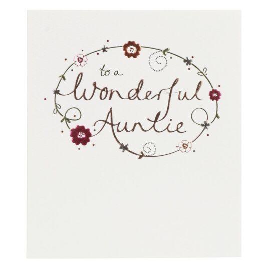 Mimosa Wonderful Auntie Birthday Card