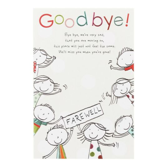 'Goodbye!' Leaving Card