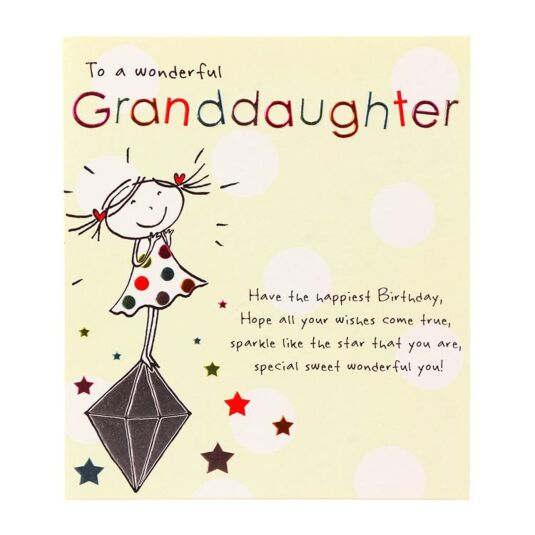Tinklers 'To A Wonderful Granddaughter' Card