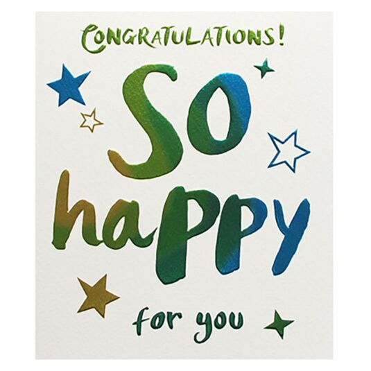 Congratulations So Happy Card