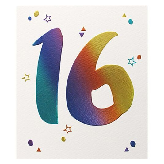 16th Birthday Card