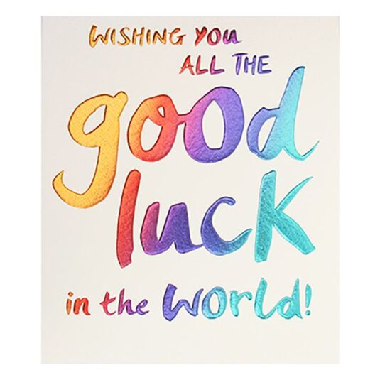 Wishing You Good Luck Card