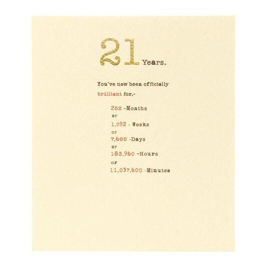 Sum it Up 21st Birthday Card
