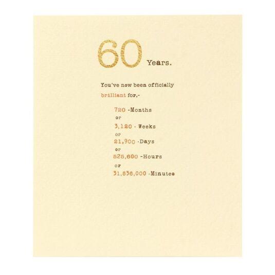 Sum it Up 60th Birthday Card