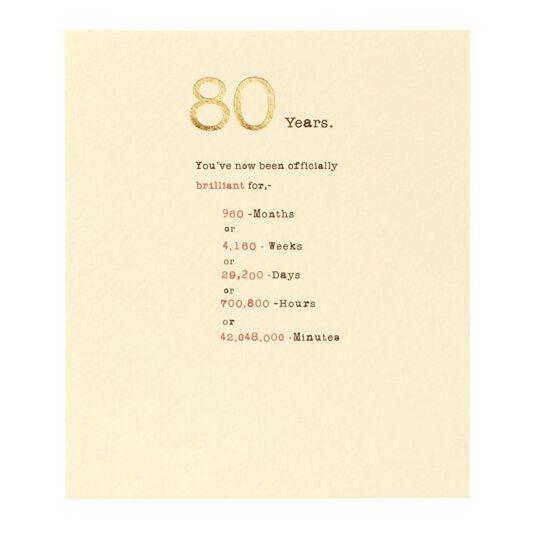 Sum it Up 80th Birthday Card
