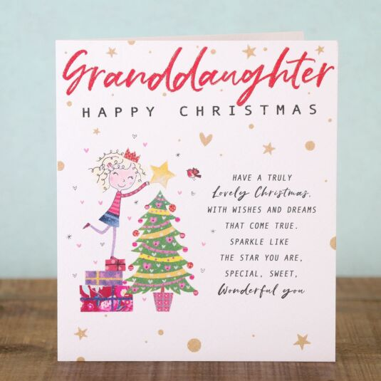 Chit Chat 'Granddaughter' Christmas Card