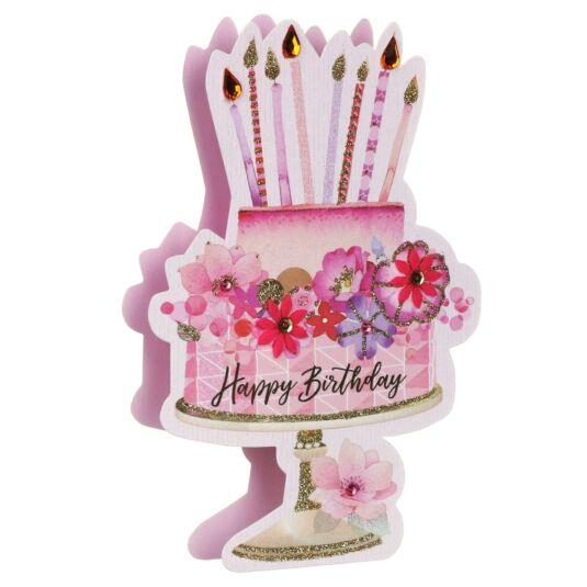 'Happy Birthday' Cake 3D Card