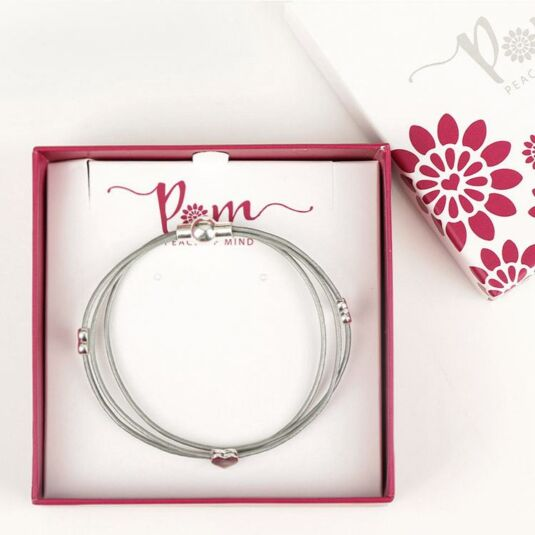 Three Hearts Silver Plated Bracelet