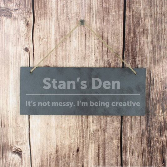 Personalised Bold Design Slate Door Sign