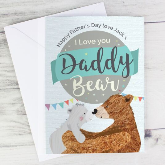 Personalised Daddy Bear Father's Day Card