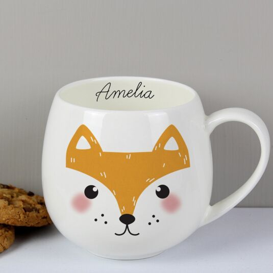 Personalised Cute Fox Shaped Mug