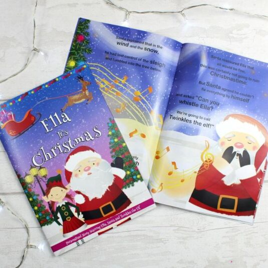Personalised Girls 'It's Christmas' Story Book
