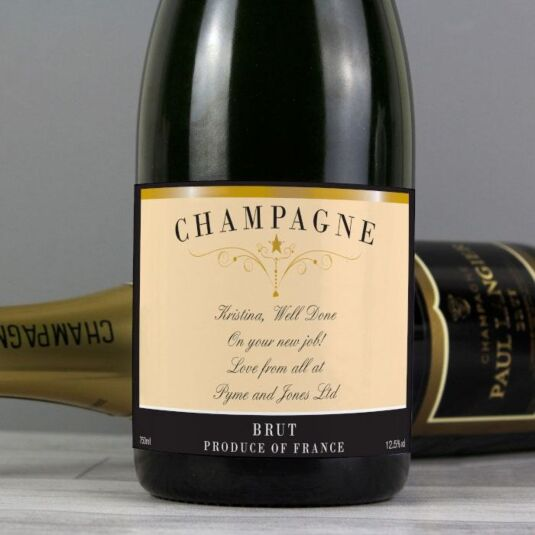 Personalised Classic Label of Champagne
