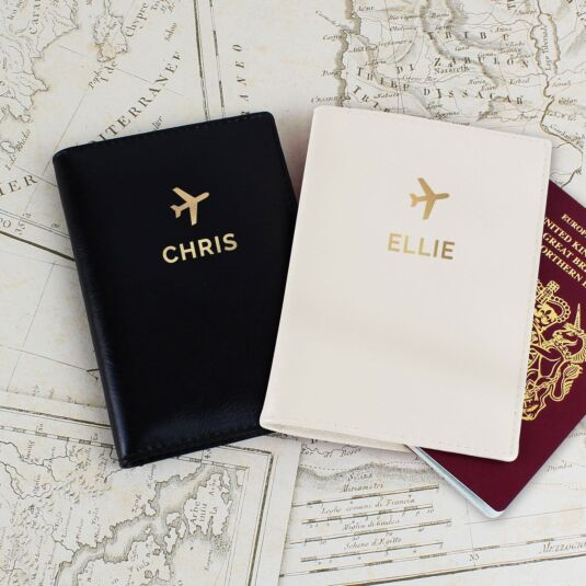 Gold Name Passport Holders Set