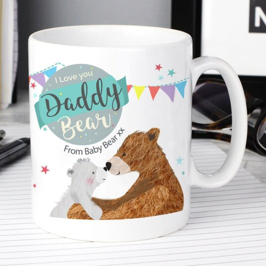 Personalised Daddy Bear Father's Day Mug