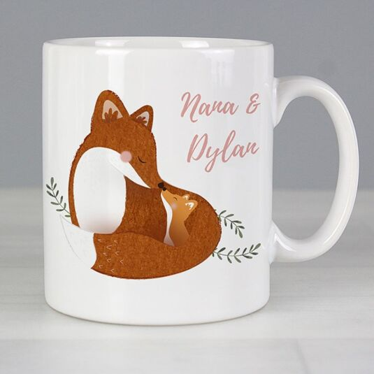 Personalised 'Mummy and Me' Fox Mug