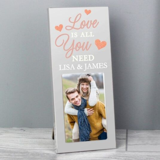 "Personalised 'Love is All You Need' 2 x 3"" Photo Frame"