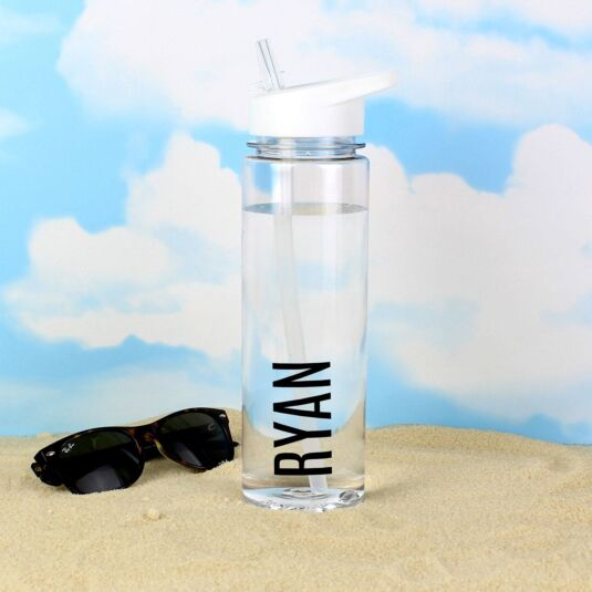 Personalised Black Letter Water Bottle