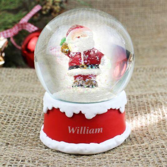 Personalised Santa Snow Globe