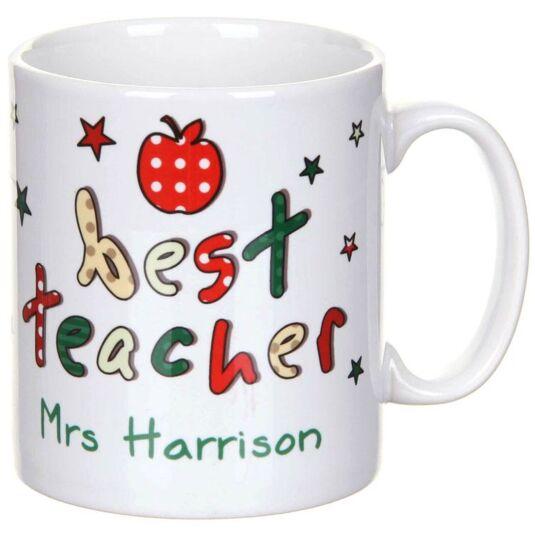 Personalised Best Teacher Mug