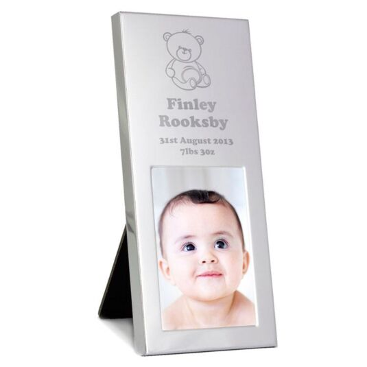 Personalised Teddy Small Silver 2 x 3 Frame